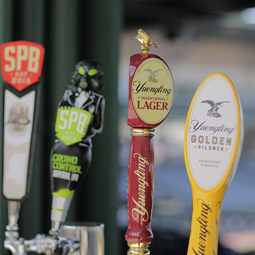 Draft beer options at Mississippi Braves Stadium