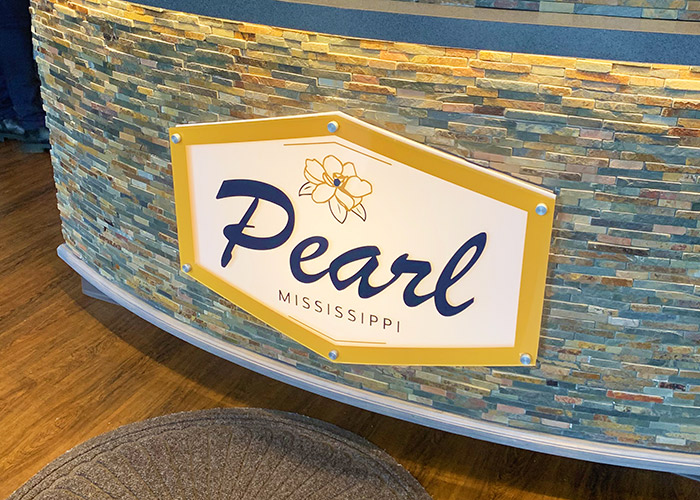 City of Pearl signage at Pearl City Hall