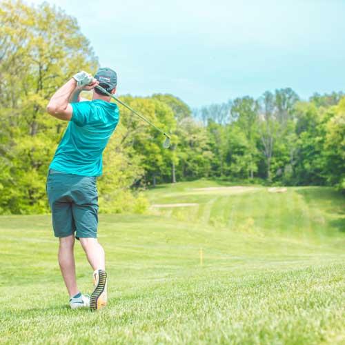 golfer in fairway
