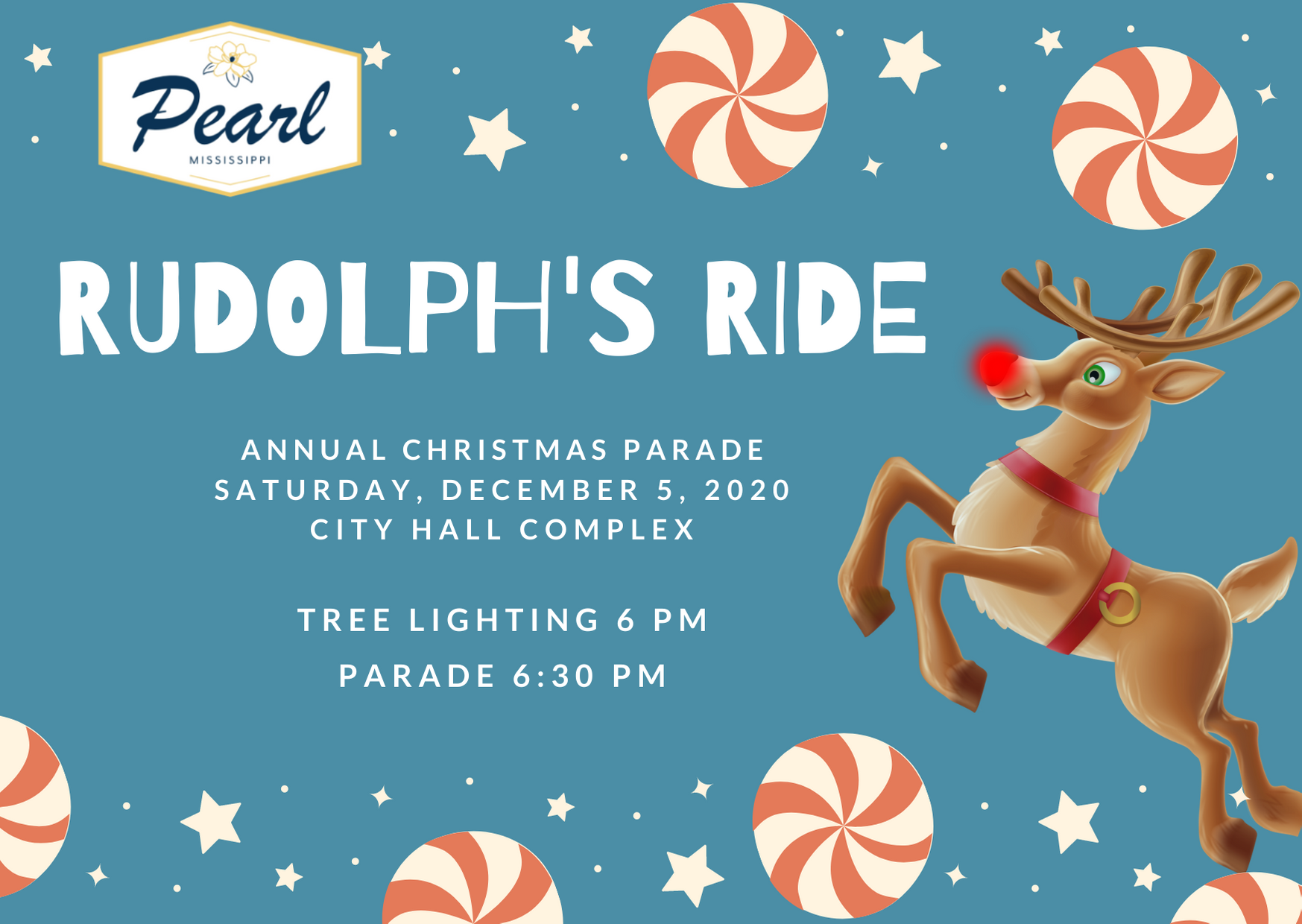 Mississippi Christmas Parades 2020 Pearl Christmas Parade: Rudolph's Ride, Dec. 5, 2020   City of Pearl