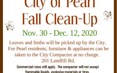 Fall Clean-Up Starts Nov. 30 through Dec. 12