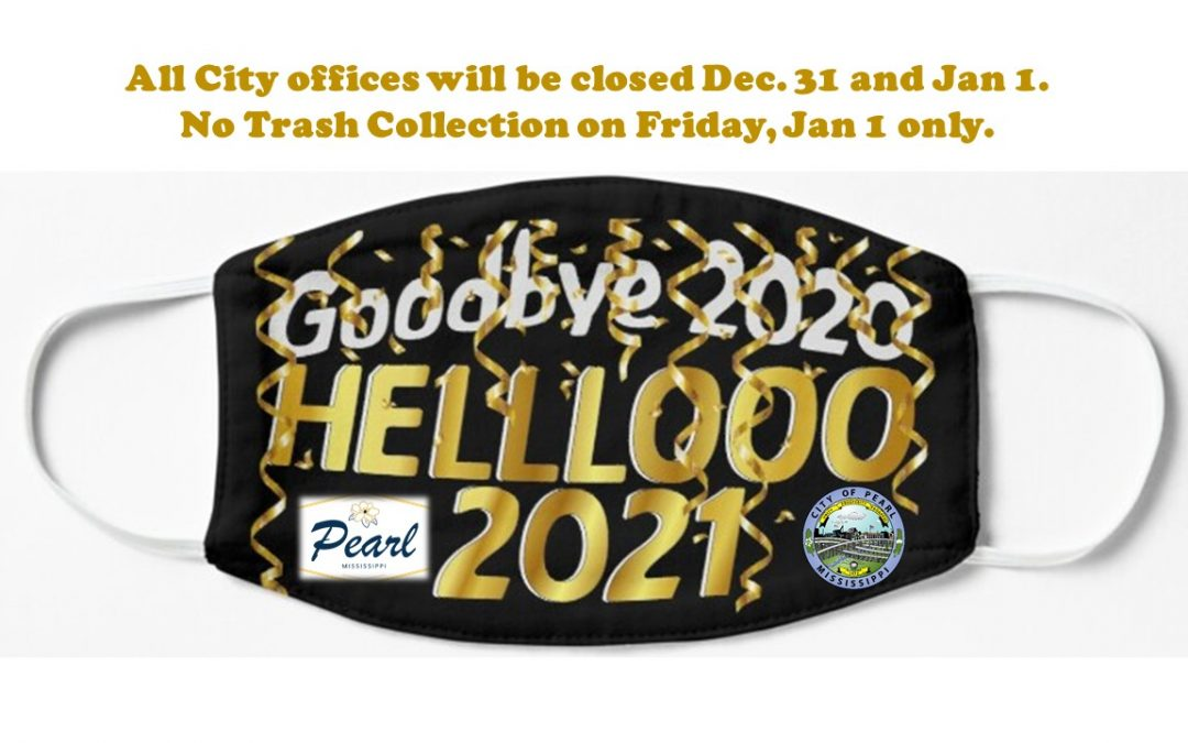 City Offices Closed Dec. 31 and Jan. 1.