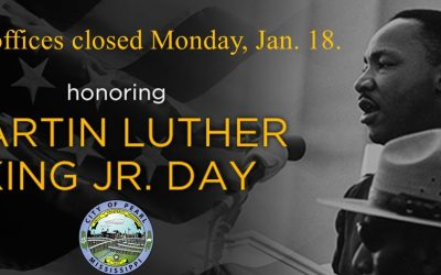 City Offices Closed Monday, January 18.